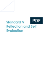 reflection and self evaluation