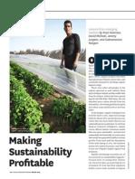 Sustainability Profitable