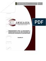procedimiento para la emisión de proyecto por parte del consejo de evaluación , acreditacion y certificacion de la calidad de la educacion superior no universitaria