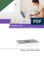 Thomson Tg784 Setup and User Guide