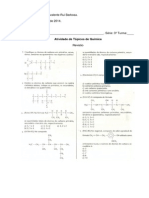 Atividade - 1º Bi- 3ªSérie- E.M. Química- 24 cópias