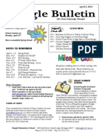 Beagle Elementary School Newsletter April 3, 2014