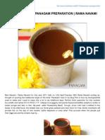 Panakam Recipe Panagam Preparation Rama Navami Recipes