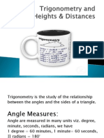Trigonometry and Height and Distance