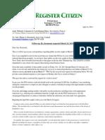 Foi Danbury Response Monday April 14 2014