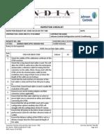 Inspection Checklist OTDR Test for Fiber Optic Cables
