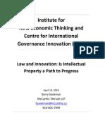 Sookman INET CIGI Law and Innovation Paper