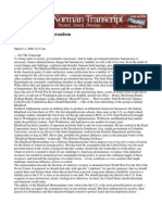 The Khalilzad Memorandum