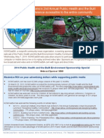 Public Health and the Built Environment Webcast Special