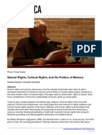 Huyssen, Andreas - Natural Rights, Cultural Rights