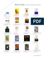 Oprah Book Club Complete List