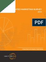 Integrated Marketing Survey Report - 2013