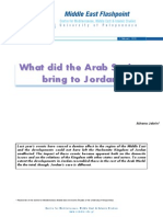What Did the Arab Spring Bring to Jordan