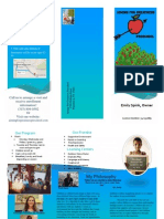 brochure for planning programs