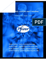 Pfizer Equity Analysis and Valuation4288.