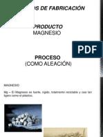 Procesos de Fabricacion - Magnesio - Aleacion - Christian Hurtado2