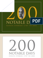 200 Notable Days - Senate Stories 1787-2002