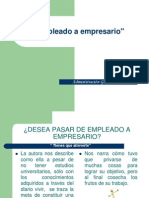 PP Trabajo en Trabajo final Grupo Administración General - De empleado a empresario