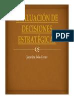 EVALUACIÓN DE DECISIONES ESTRATÉGICAS - Jaqueline Salas