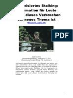 Strahlenfolter Stalking - TI - Organisiertes Stalking - Os-german