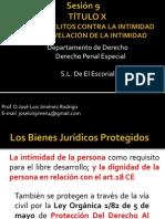 Sesión 9 de los delitos contra la intimidad, secretos y allanamientos