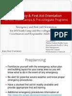 Emergency Firstaid Orientation