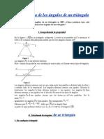 Usar la suma de los ángulos de un triángulo