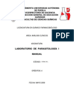 Manual Prácticas Parasitología I