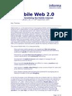 Mobile Web 2 0 and Monetizing the Mobile Internet Full Doc