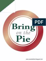 Thanksgiving Dessert Buffet Printable Sign