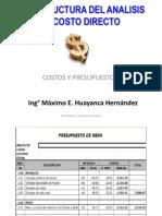 10c.- Analisis de Costo Directo