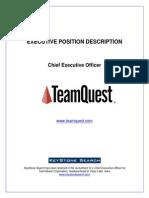 Executive Position Profile Teamquest Ceo