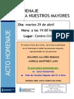 Homenaje a Los Mayores de a Silva 29-4-2014