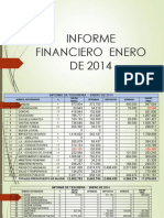 Informe Tesoreria Ener. 2014