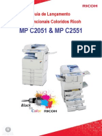Ricoh MP C2051_C2551 Guia de Lançamento