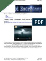Climate Change...Washington Needs To Work Overtime