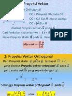 Proyeksi Vektor