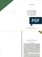 La Memoria Ejercida - Uso y Abuso - La Memoria, La Historia, El Olvido - Paul Ricouer