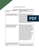 playground evaluation assignment descrip