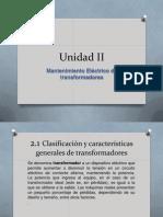 Unidad II Mantenimiento a Transformadores