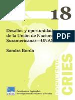 Desafios y Oportunidades de la Union de Naciones Suramericanas UNASUR - Sandra Borda.pdf