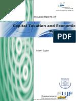 Martin Zagler. Capital Taxation and Economic Performance