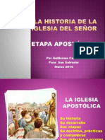 Historia de La Iglesia Domingo 23 de Marzo de 2014