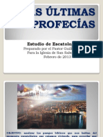 LAS ÚLTIMAS PROFECÍAS presentacion para SSJ segundo dia