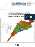 Caracterizacao Geomorfologica Do Municipio de Barreiras, Oeste Baiano, Escala 1100.000