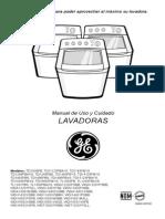 Manual de Lavadora Automatica GE