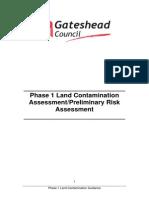 Phase 1 Land Contamination Assessment