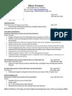 hilary troutner resume