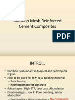 Bamboo Mesh Reinforced Cement Composites