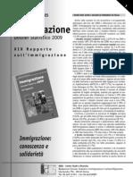 Caritas Migrantes - Scheda - Dossier Statistico Immigrazione 2009